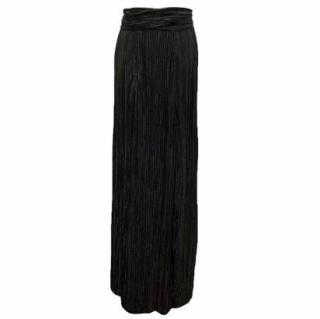 L'Agence Black Pleated Skirt