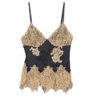 Mandalay Black Cami with Lace Detail