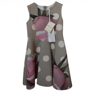 Monnalisa lovely runway dress with shrug, 5-7yrs