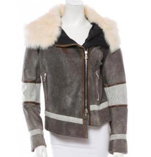 Rag And Bone Runway Hooded Shearling Jacket
