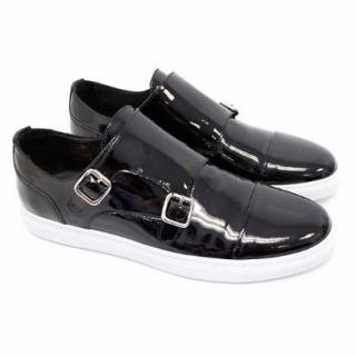 Dsquared2 Black Patent Leather Trainers