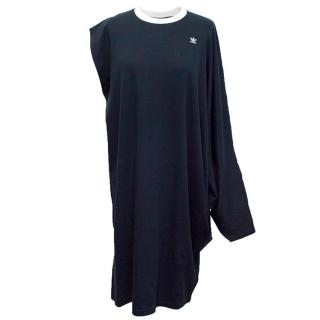 Adidas Originals navy asymmetrical dress
