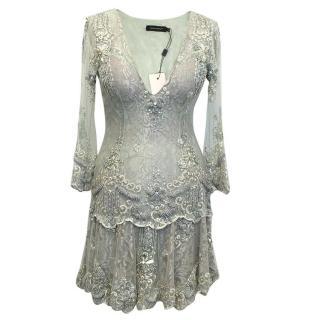 Patricia Bonaldi Mint Embellished Mini Dress