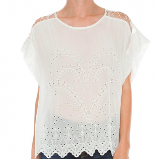 Iro White Fiore Cut-Out Top