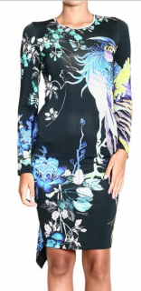 Just Cavalli Multicolour Peacock Dress