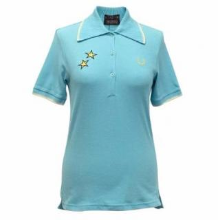 Bella Freud x Fred Perry Turquoise Polo