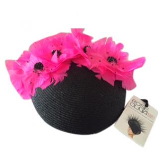 Rosie Olivia Millinery Kingston Black Straw Beret
