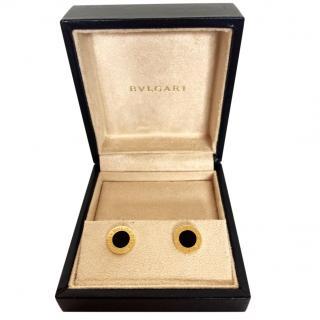 Bvlgari gold and onyx earrings