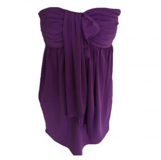 Vera Wang Lavender Label Purple Strapless Dress