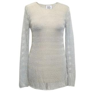Zoe Karssen Silver Knitted Top