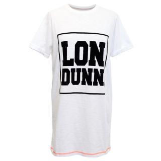 Lil' Londunn White Oversized T-Shirt with Londunn Graphic