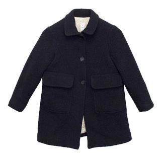 Bonpoint Girls Navy Coat