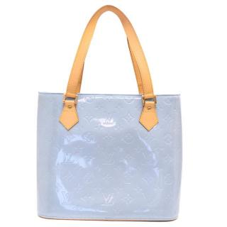 Louis Vuitton Blue Patent Leather Houston Tote Bag
