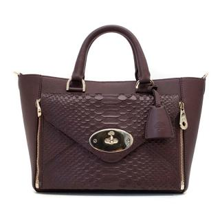 Mulberry Willow Tote In Oxblood