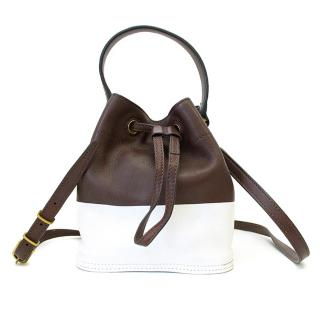 Tory Burch Brown and White Bag