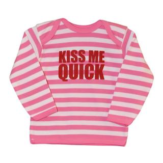 New Snuglo Kiss Me Quick Pink White Stripe Top