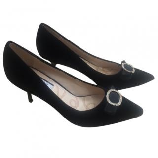 Lucy Choi Black Suede Shoes