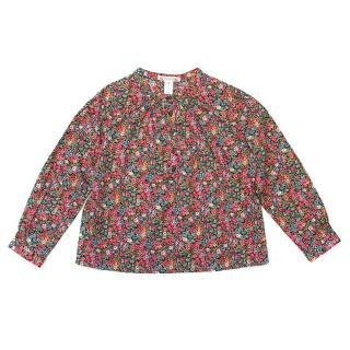 Bonpoint Girls Long Sleeved Floral Top