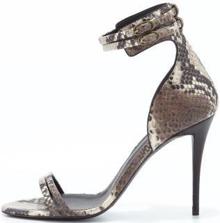 Guiseppe Zanotti Snake print Ankle wrap Sandal