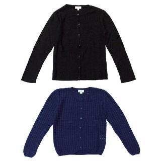 C de C Blue and Black Cardigan Set