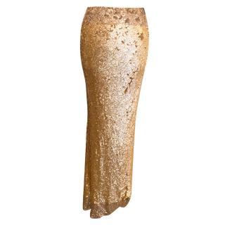 Donna Karan Sequin Maxi Skirt