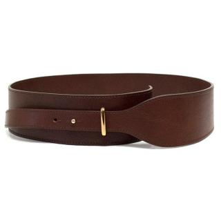 Chloe Brown Leather Belt