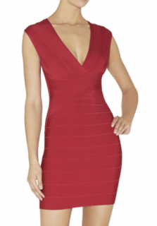 Herve Leger  Red  Bodycon dress Size S