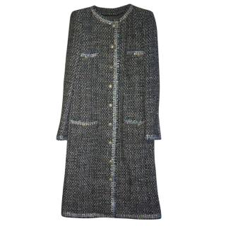 Chanel Black/Blue/Ecru Coat