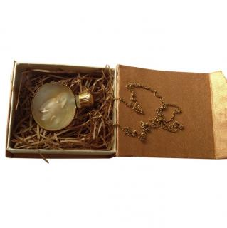 Nina Ricci ''L'Air du Temps'' Lalique Crystal Necklace with Pendant