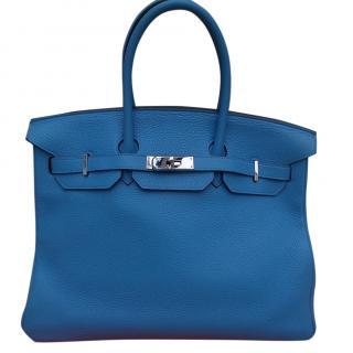 Hermes Birkin 35 Bleu Paradis Taurillon Clemence