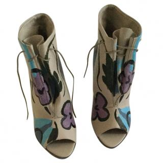 Burberry prorsum hand painted ankle boots
