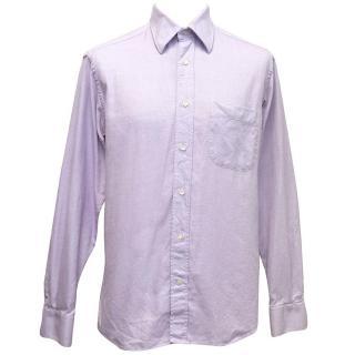 Cerruti 1881 Purple and White Print Shirt