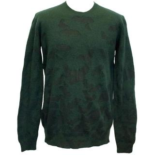 Marks Lupfer Unisex Bat Jumper in Forest Green