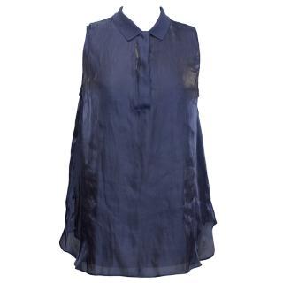 Lacoste dark blue fashion show top.