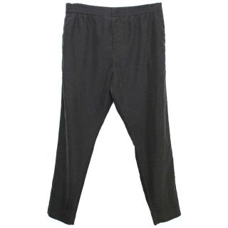 Cos Washed Out Black Trousers with Elasticated Waist