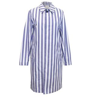 Mackintosh Blue and White Striped Oxford Dunoon Jacket