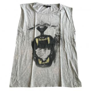 Maje Grey Animal Top as worn by Ciara