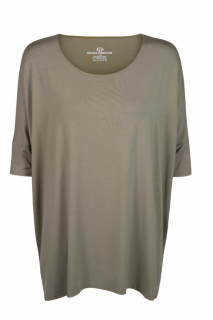 Belinda Robertson Luxe Jersey Easy Relaxed Top, Khaki Green, Small