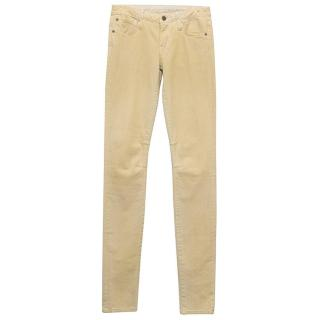 Helmut Lang Faded Yellow Skinny Jeans