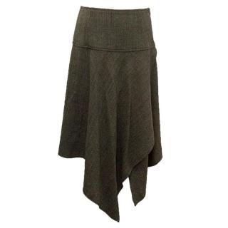 I Blues knee length brown skirt
