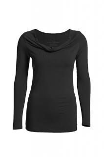 Belinda Robertson Luxe Jersey Long Sleeve Drape Neck Top