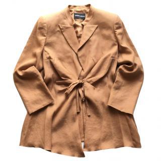 Giorgio Armani black label linen jacket