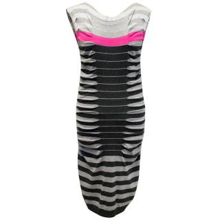 Ted Baker Grey, Black and Pink Dress