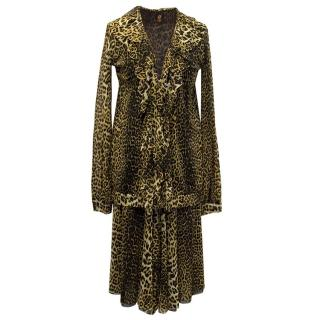 Jean Paul Gaultier Soleil Leopard Print Skirt and Jacket