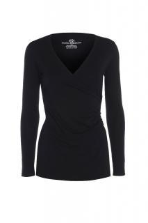 Belinda Robertson Luxe Jersey Wrap Front Long sleeve Top