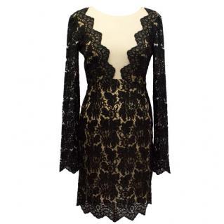 Adriana Minari Long Sleeved Black Lace Dress
