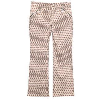 Stefanel beige print trousers
