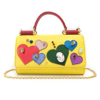 Dolce & Gabbana Yellow St. Valentine Mini Von Wallet Bag