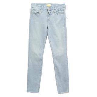 Mother blue Insider Crop Step Fray jeans