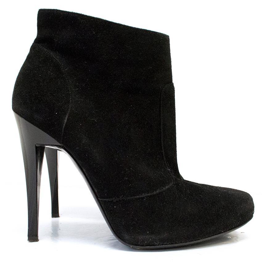 Alberta Ferretti Black Suede Ankle Boots